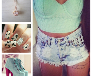 heels, nails, and necklace image