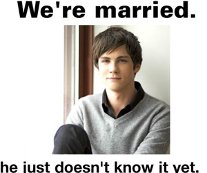 lol, logan lerman, and married image