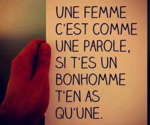 femme, parole, and text image