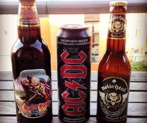 ac dc, iron maiden, and beer image