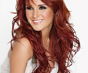 dulce maria and red hair image