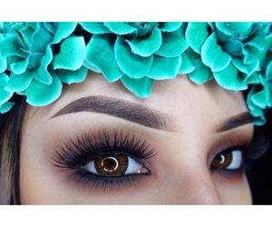 make up, eyes, and beauty image