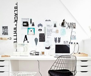 desk, girly, and ideas image