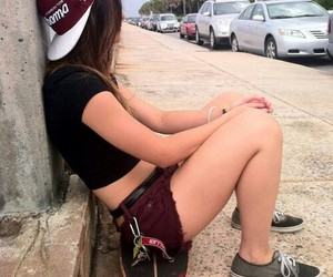 beautiful, girl, and skater image