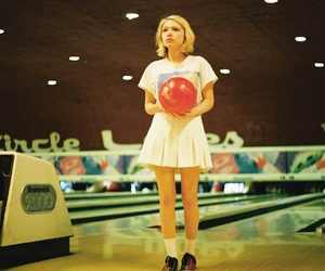girl, vintage, and bowling image