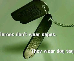 army, brave, and dog tags image