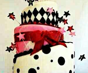 cake, stars, and food image