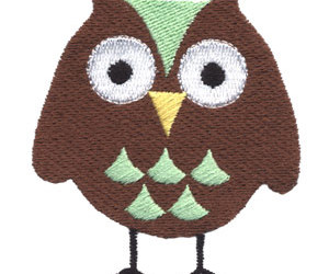 brown, green, and owl image