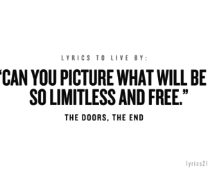 Lyrics, the doors, and the end image
