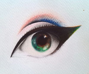 art, draw, and eyes image