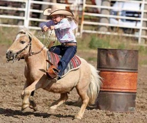Cowgirl, little, and western image