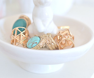 rings, gold, and blue image