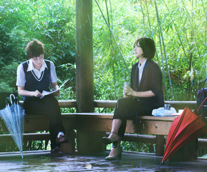 anime, makoto shinkai, and anime film image