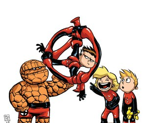 Fantastic Four, Marvel, and skottie young image