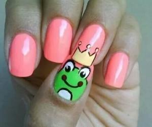 nails, frog, and pink image