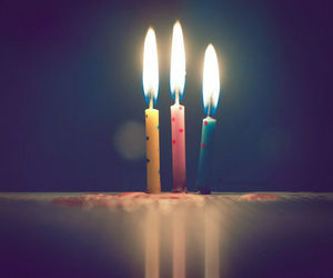 candle, birthday, and b-day image