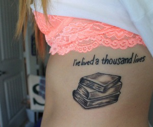 book, tattoo, and tumblr image