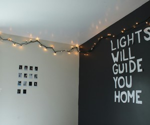 lights, bedroom, and room image