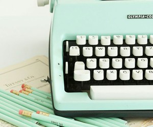 vintage, typewriter, and mint image