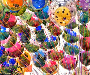 balloons, bubbles, and colours image