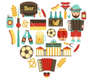 germany, heart, and icons image