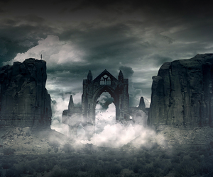 forgotten, land, and ruins image