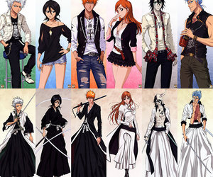 bleach, grimmjow, and rukia image