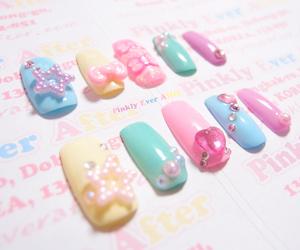 fake nails, kawaii, and nail image
