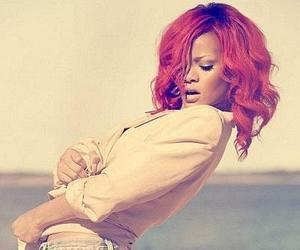 rihanna, red hair, and red image