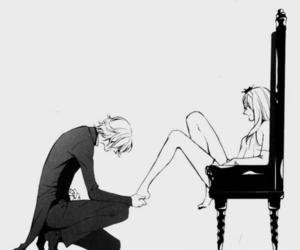 black and white, manga, and princess image