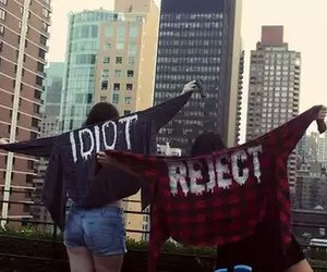 city, idiot, and reject image
