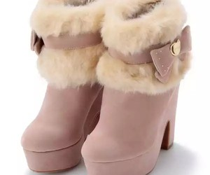 boots, pink, and cute image