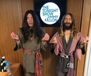 jimmy fallon, jared leto summer 2014, and jared leto in tv show image