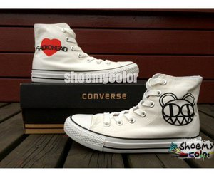 fashion shoes, radiohead, and converse shoes image