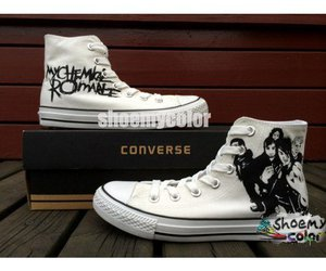 fashion shoes, my chemical romance, and high top converse image