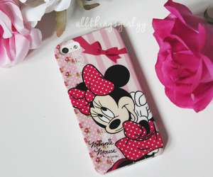 iphone, minniemouse, and pink image