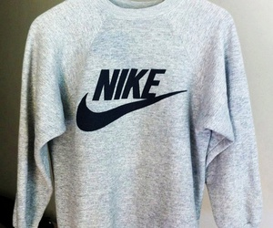 nike, white, and sweater image