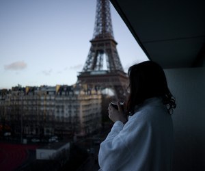 paris, girl, and coffee image