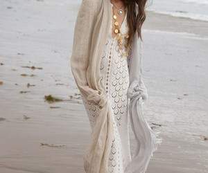 crochet, maxi dress, and style image