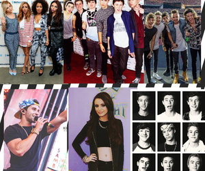 Collage, little mix, and idols image