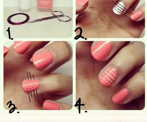 nails, diy, and pink image