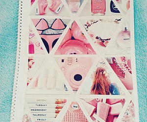 notebook, pink, and diy image