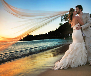 beach, groom, and sand image
