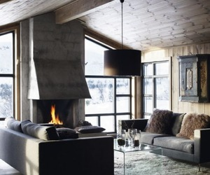fireplace, fire, and house image