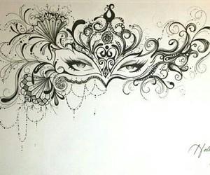art, drawing, and mask image