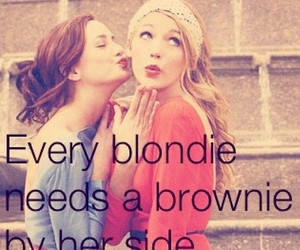 beautiful, blond hair, and brown hair image