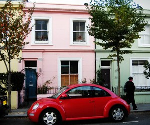 car, london, and house image