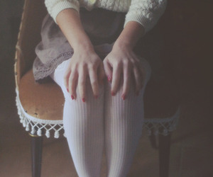 vintage, girl, and nails image