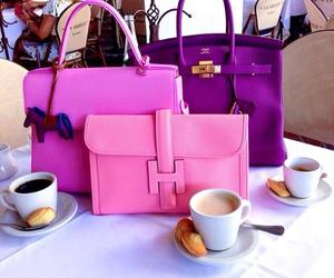 bag, pink, and purple image