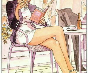 coffee, girl, and read image